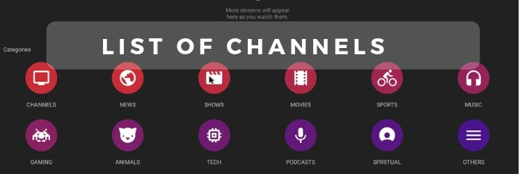 Mobdro list of channels